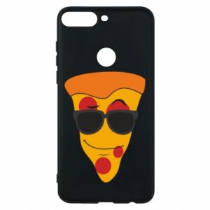 Etui na Huawei Y7 Prime 2018 Pizza with glasses