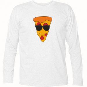 Koszulka z długim rękawem Pizza with glasses