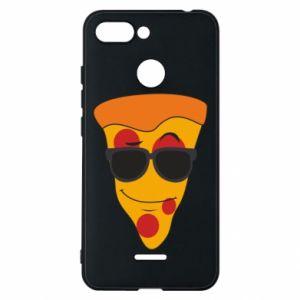 Etui na Xiaomi Redmi 6 Pizza with glasses