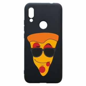 Etui na Xiaomi Redmi 7 Pizza with glasses