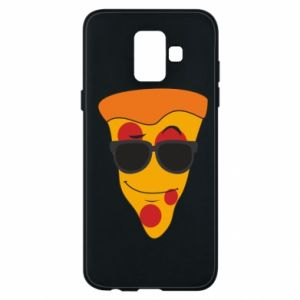 Etui na Samsung A6 2018 Pizza with glasses