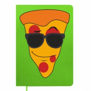 Notes Pizza with glasses
