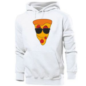 Męska bluza z kapturem Pizza with glasses
