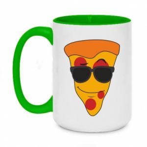 Kubek dwukolorowy 450ml Pizza with glasses