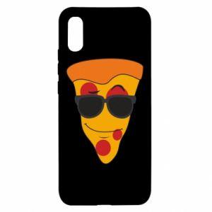 Xiaomi Redmi 9a Case Pizza with glasses