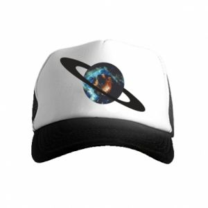 Kid's Trucker Hat Planet in space