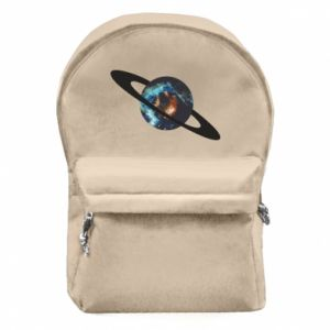 Backpack with front pocket Planet in space