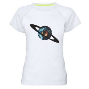 Women's sports t-shirt Planet in space