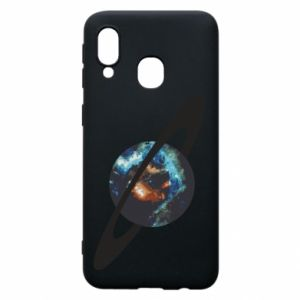 Samsung A40 Case Planet in space