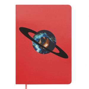 Notepad Planet in space