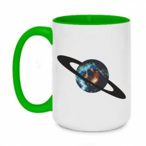 Two-toned mug 450ml Planet in space