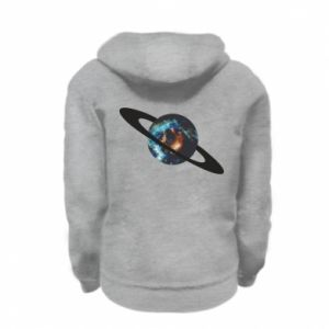 Kid's zipped hoodie % print% Planet in space