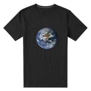 Męska premium koszulka Planeta Ziemia - PrintSalon