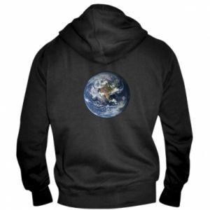 Męska bluza z kapturem na zamek Planeta Ziemia - PrintSalon