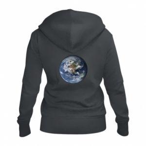 Damska bluza na zamek Planeta Ziemia - PrintSalon