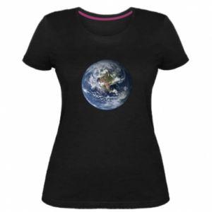 Damska premium koszulka Planeta Ziemia - PrintSalon