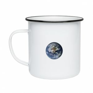 Enameled mug Planet Earth