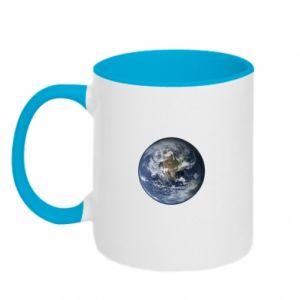 Kubek dwukolorowy Planeta Ziemia - PrintSalon