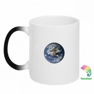Kubek-kameleon Planeta Ziemia