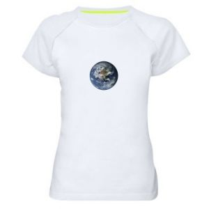Women's sports t-shirt Planet Earth