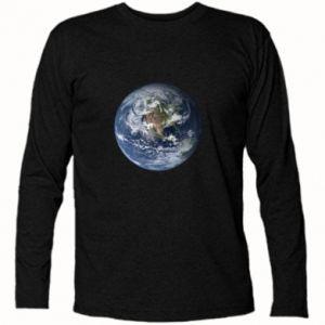 Koszulka z długim rękawem Planeta Ziemia - PrintSalon