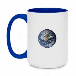 Two-toned mug 450ml Planet Earth