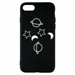 Etui na iPhone 7 Planets and stars