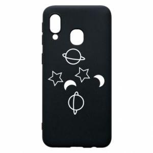Etui na Samsung A40 Planets and stars