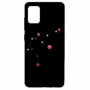 Etui na Samsung A51 Planety i gwiazdy na niebie