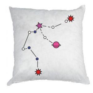 Poduszka Planety i gwiazdy na niebie