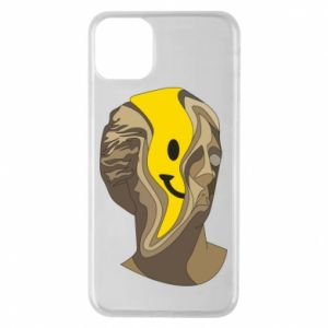 Phone case for iPhone 11 Pro Max Plaster figure with a smiley