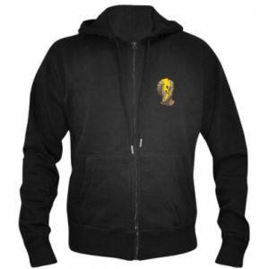 Men's zip up hoodie Plaster figure with a smiley - PrintSalon