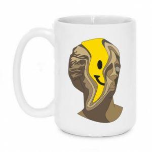 Mug 450ml Plaster figure with a smiley - PrintSalon