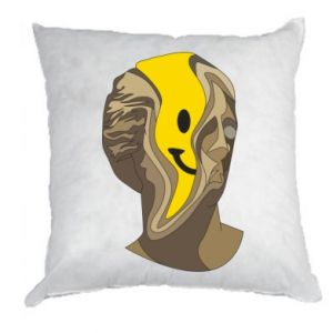 Pillow Plaster figure with a smiley