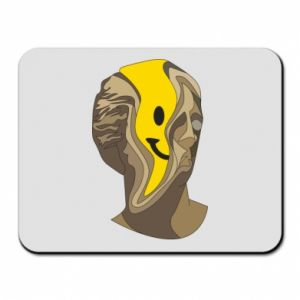 Mouse pad Plaster figure with a smiley