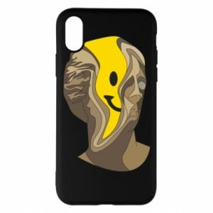 Phone case for iPhone X/Xs Plaster figure with a smiley