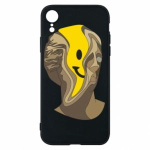 Phone case for iPhone XR Plaster figure with a smiley