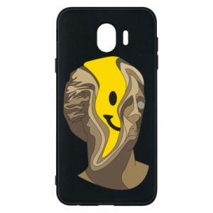 Phone case for Samsung J4 Plaster figure with a smiley