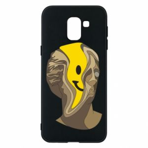 Phone case for Samsung J6 Plaster figure with a smiley