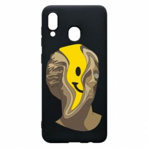 Phone case for Samsung A20 Plaster figure with a smiley