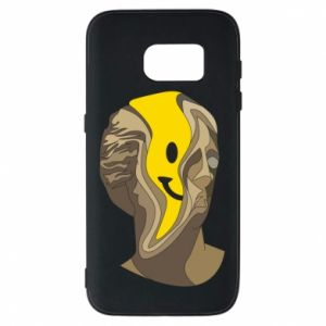 Phone case for Samsung S7 Plaster figure with a smiley