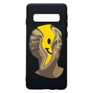 Phone case for Samsung S10 Plaster figure with a smiley