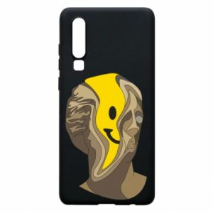 Phone case for Huawei P30 Plaster figure with a smiley
