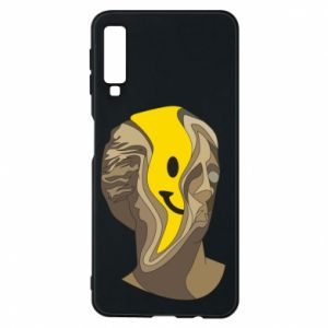 Phone case for Samsung A7 2018 Plaster figure with a smiley