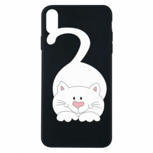 Phone case for iPhone Xs Max Playful white cat - PrintSalon