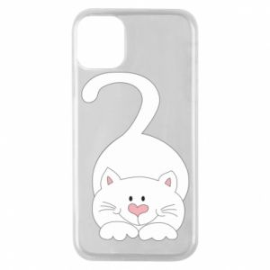 Phone case for iPhone 11 Pro Playful white cat - PrintSalon