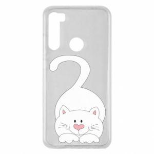 Etui na Xiaomi Redmi Note 8 Playful white cat