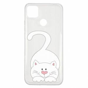 Etui na Xiaomi Redmi 9c Playful white cat