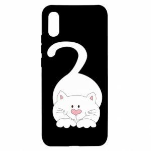 Etui na Xiaomi Redmi 9a Playful white cat