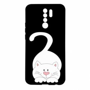 Etui na Xiaomi Redmi 9 Playful white cat